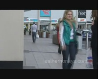 Babe at Public Shopping Park in Tight Shiny Latex Rubber Catsuit Dannii Harwood - YouTube