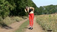 Nikki is wearing Slinkystylez SyntheticRubber Leggings.avi - YouTube