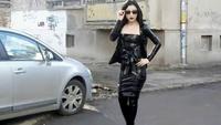 Black Latex Gothic Look - YouTube