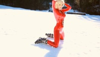 SW in red latex overalls - YouTube