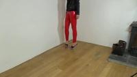 Sexy Latex Liquid Leggings Slinky Stylez Walk 2 - YouTube