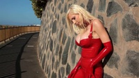 red latex in public part 2 - YouTube