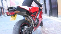 Lillyroma and a Ducati 999R for Latexotica.com - YouTube