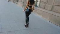 Latex Fashion In Public - YouTube