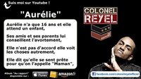 Colonel Reyel - Aurélie - Paroles