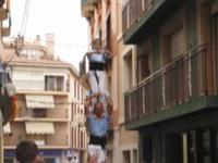 l'arrivée des participants - Tour humaine - Xiquets - les Castellers