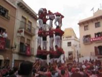 Effondrement d'une tour - Tour humaine - Xiquets - les Castellers