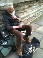 Dude playing the spoons