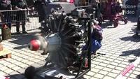 9 Cylinder Radial Engine Start And Run - Sternmotor läuft