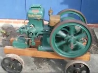 Stationary engines in the garden - YouTube